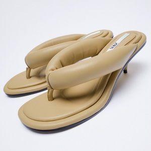 Zara Thong Heels